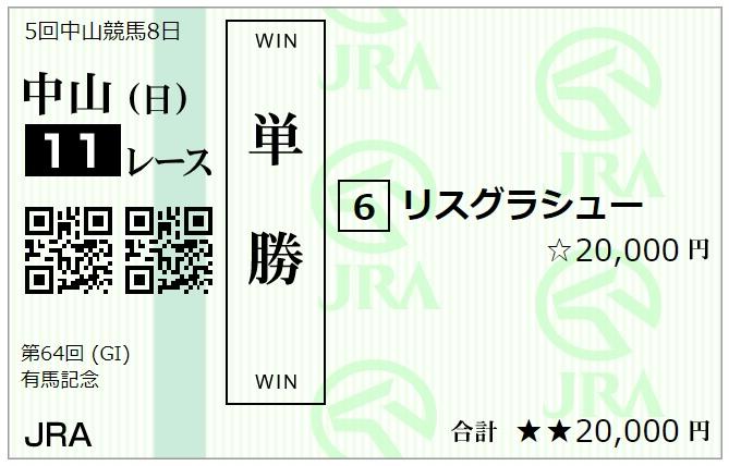 有馬記念の馬券