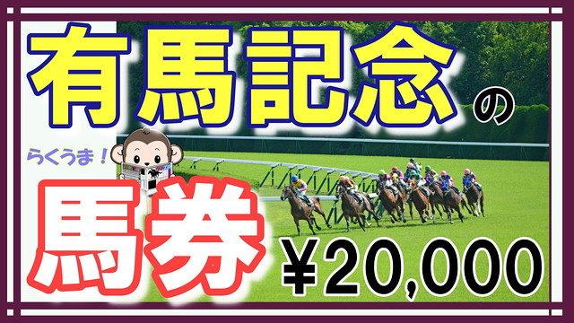 有馬記念の馬券2万円分