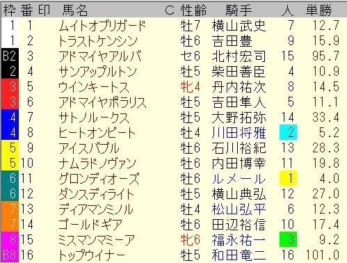 出馬表【5月29日・目黒記念】