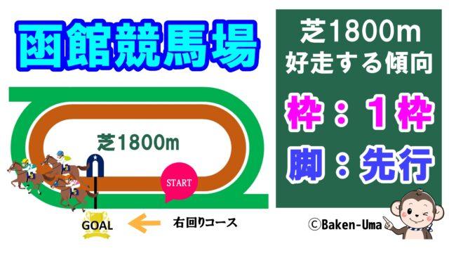 函館競馬場芝1800m