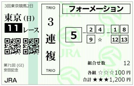 【3連複】フォーメーション馬券