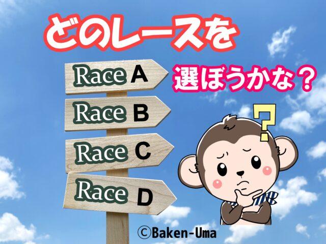 どのレースを選ぼうかな